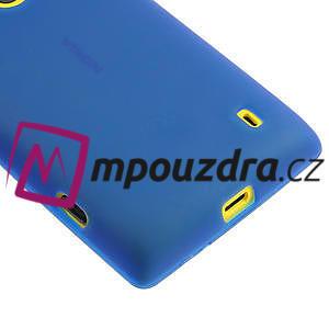 Gelové matné pouzdro na Nokia Lumia 520 - modré - 4