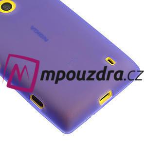 Gelové matné pouzdro na Nokia Lumia 520 - fialové - 4
