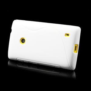 Gelové S-line pouzdro na Nokia Lumia 520- bílé - 4