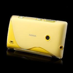 Gelové S-line pouzdro na Nokia Lumia 520- transparentní - 4