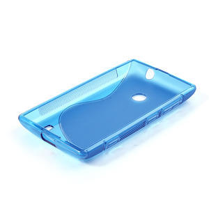 Gelové S-line pouzdro na Nokia Lumia 520- modré - 4