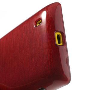 Gelové kartáčové pouzdro na Nokia Lumia 520- červené - 4