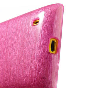 Gelové kartáčové pouzdro na Nokia Lumia 520- růžové - 4