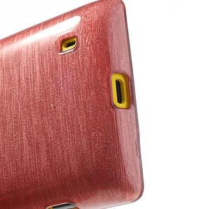 Gelové kartáčové pouzdro na Nokia Lumia 520- světlerůžové - 4