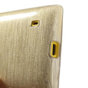 Gelové kartáčové pouzdro na Nokia Lumia 520- zlaté - 4