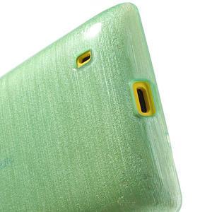 Gelové kartáčové pouzdro na Nokia Lumia 520- zelenomodré - 4