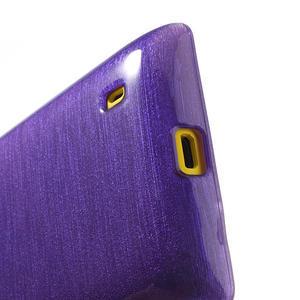 Gelové kartáčové pouzdro na Nokia Lumia 520- fialové - 4