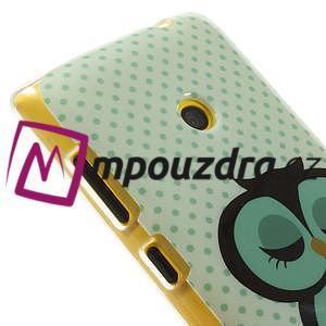 Gelové pouzdro na Nokia Lumia 520 - sova - 4