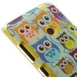 Gelové pouzdro na Nokia Lumia 520 - multi sovy 2 - 4/5