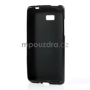 Gelové matné pouzdro pro HTC Desire 600- černé - 4