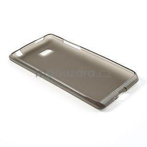 Gelové matné pouzdro pro HTC Desire 600- šedé - 4