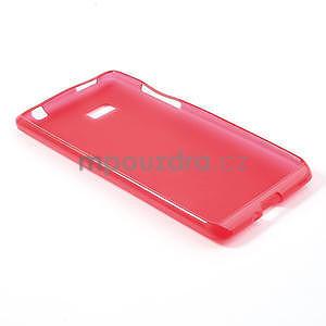 Gelové matné pouzdro pro HTC Desire 600- červené - 4