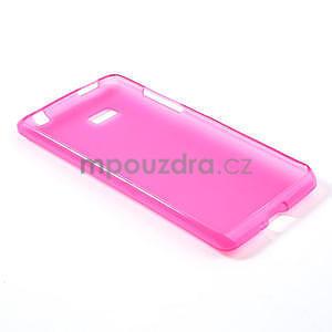 Gelové matné pouzdro pro HTC Desire 600- růžové - 4