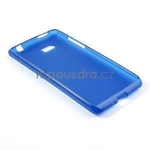Gelové matné pouzdro pro HTC Desire 600- modré - 4