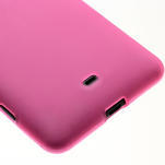 Gelové matné pouzdro pro Nokia Lumia 625- růžové - 4/5