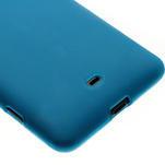Gelové matné pouzdro pro Nokia Lumia 625- světlemodré - 4/5