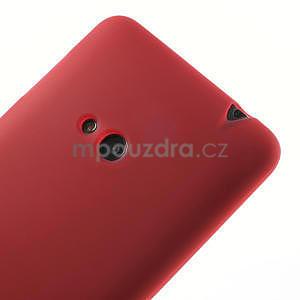 Gelové matné pouzdro pro Nokia Lumia 625- červené - 4
