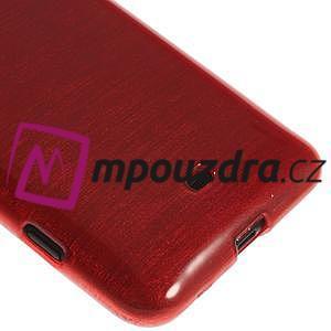 Gelové kartáčové pouzdro na Nokia Lumia 625 - červené - 4