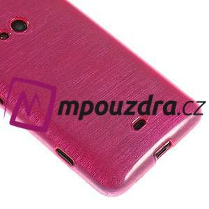 Gelové kartáčové pouzdro na Nokia Lumia 625 - růžové - 4