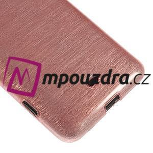 Gelové kartáčové pouzdro na Nokia Lumia 625 - světlerůžové - 4