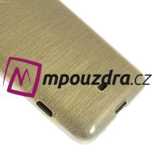 Gelové kartáčové pouzdro na Nokia Lumia 625 - zlaté - 4