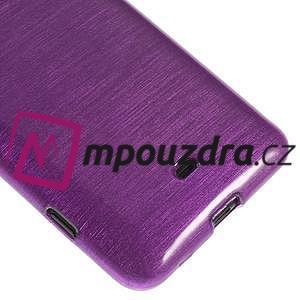 Gelové kartáčové pouzdro na Nokia Lumia 625 - fialové - 4