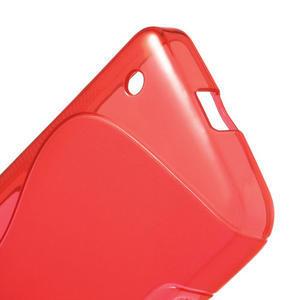 Gelové S-line pouzdro na Nokia Lumia 630- červené - 4