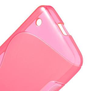 Gelové S-line pouzdro na Nokia Lumia 630- růžové - 4