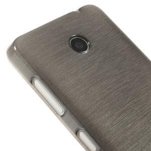Gelové Kartáčové pouzdro na Nokia Lumia 630- šedé - 4