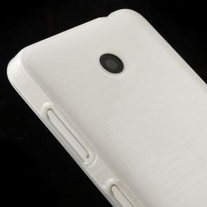 Gelové Kartáčové pouzdro na Nokia Lumia 630- bílé - 4
