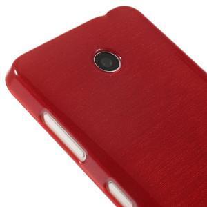 Gelové Kartáčové pouzdro na Nokia Lumia 630- červené - 4