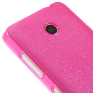 Gelové Kartáčové pouzdro na Nokia Lumia 630- růžové - 4