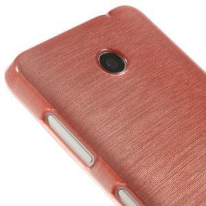 Gelové Kartáčové pouzdro na Nokia Lumia 630- světlerůžové - 4