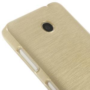 Gelové Kartáčové pouzdro na Nokia Lumia 630- zlatavé - 4