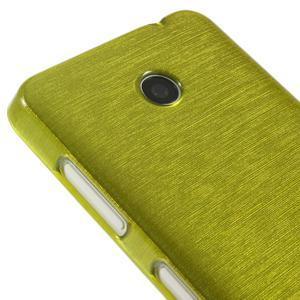 Gelové Kartáčové pouzdro na Nokia Lumia 630- zelené - 4