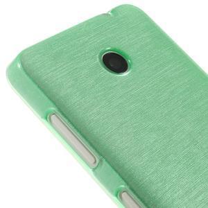 Gelové Kartáčové pouzdro na Nokia Lumia 630- zelenomodré - 4