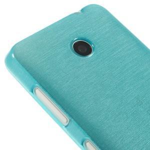 Gelové Kartáčové pouzdro na Nokia Lumia 630- modré - 4