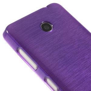 Gelové Kartáčové pouzdro na Nokia Lumia 630- fialové - 4