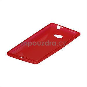 Gelové S-line pouzdro pro HTC Windows phone 8X- červené - 4