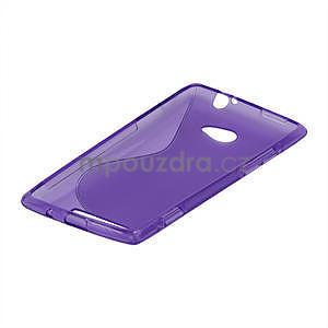 Gelové S-line pouzdro pro HTC Windows phone 8X- fialové - 4