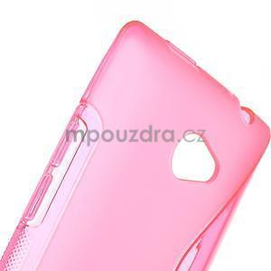 Gelové S-line pouzdro pro HTC Windows phone 8X- růžové - 4