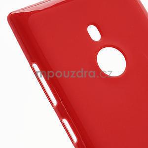 Gelové lesklé pouzdro pro Nokia Lumia 925- červené - 4