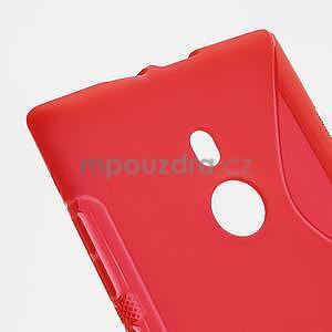 Gelové S-liné pouzdro pro Nokia Lumia 925- červené - 4