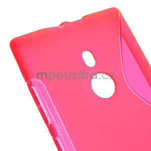 Gelové S-liné pouzdro pro Nokia Lumia 925- růžové - 4