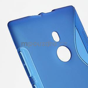 Gelové S-liné pouzdro pro Nokia Lumia 925- modré - 4