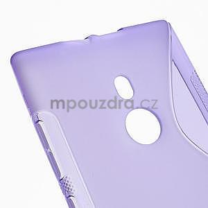 Gelové S-liné pouzdro pro Nokia Lumia 925- fialové - 4