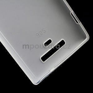 Gelové matné pouzdro pro Nokia Lumia 925- bílé - 4