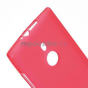 Gelové matné pouzdro pro Nokia Lumia 925- červené - 4