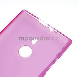 Gelové matné pouzdro pro Nokia Lumia 925- růžové - 4