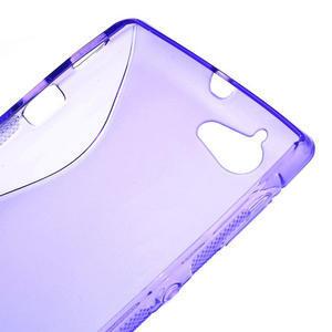 Gelové S-line pouzdro na Sony Xperia L C2105- fialové - 4